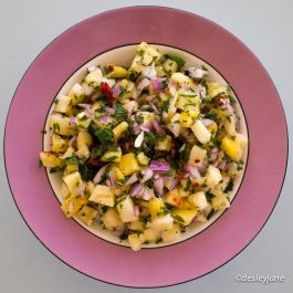 Pineapple Salsa (top).