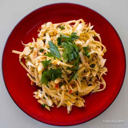 Crab Linguini (top). 17mm f/7.1 1/40s ISO200
