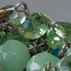I love the colours in this long green necklace.
