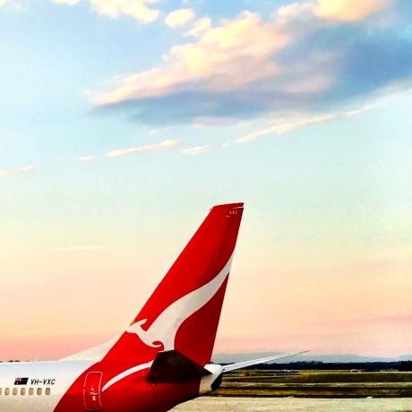 Qantas Docked.