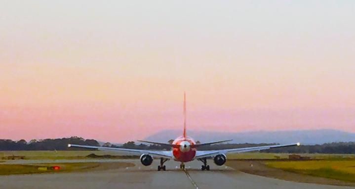 Take-off.
