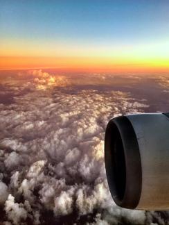 Somewhere over Melbourne.