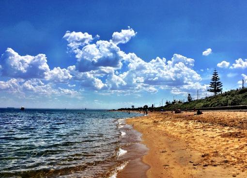 St Kilda Beach.