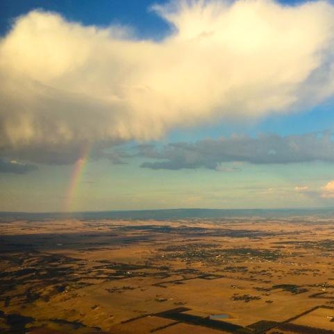 Rainbow leaving Melbourne.