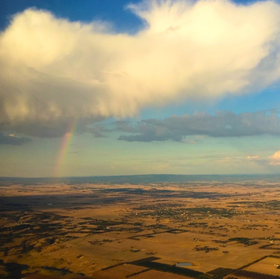 Rainbow leaving Melbourne.