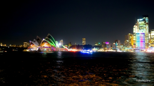 Opera House in Lights.