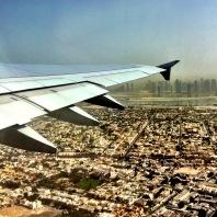 Over Dubai.