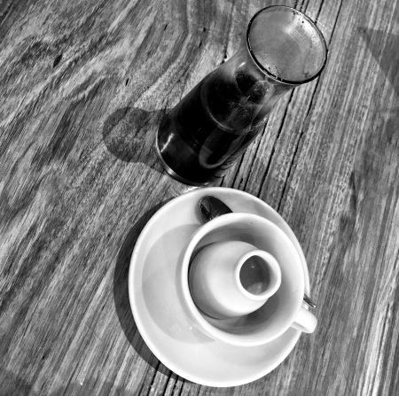 "English Breakfast Tea with milk ""on the side""."