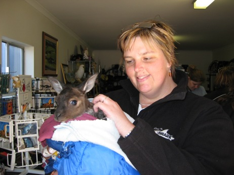 Yes that's me with a joey.