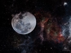 Moon In Space.