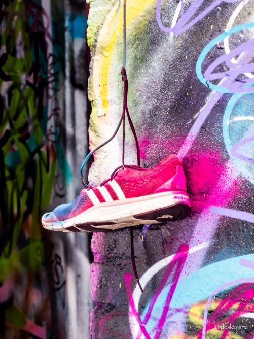 Graffiti and Shoe.