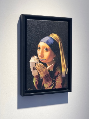 the girl with the pearl earring and the hot chocolate