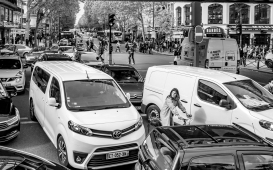 Traffic jam - I discovered the girl when editing.