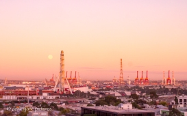 Melbourne Morning Moonlight-2